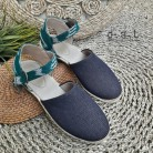 Anantha Ikat Green Denim