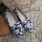 Falisha Ikat Grey Navy