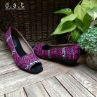 Tarissa Garutan Black Purple Wedges 3cm